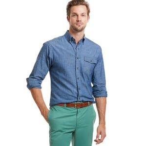 Vineyard Vines Chambray Slim Fit Crosby Shirt